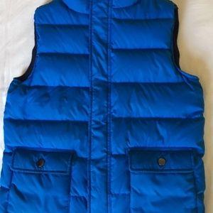 Gymboree Boy's Blue Quilted Vest Size L 10-12